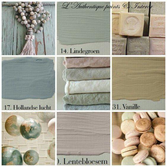 Kleur in huis met verf van l 39 authentique - Kleurenkaart grijze verf ...
