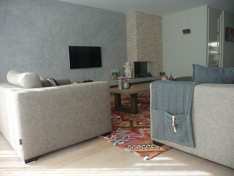 Totale metamorfose woon- en tvkamer Loosdrecht - De Huiskamer