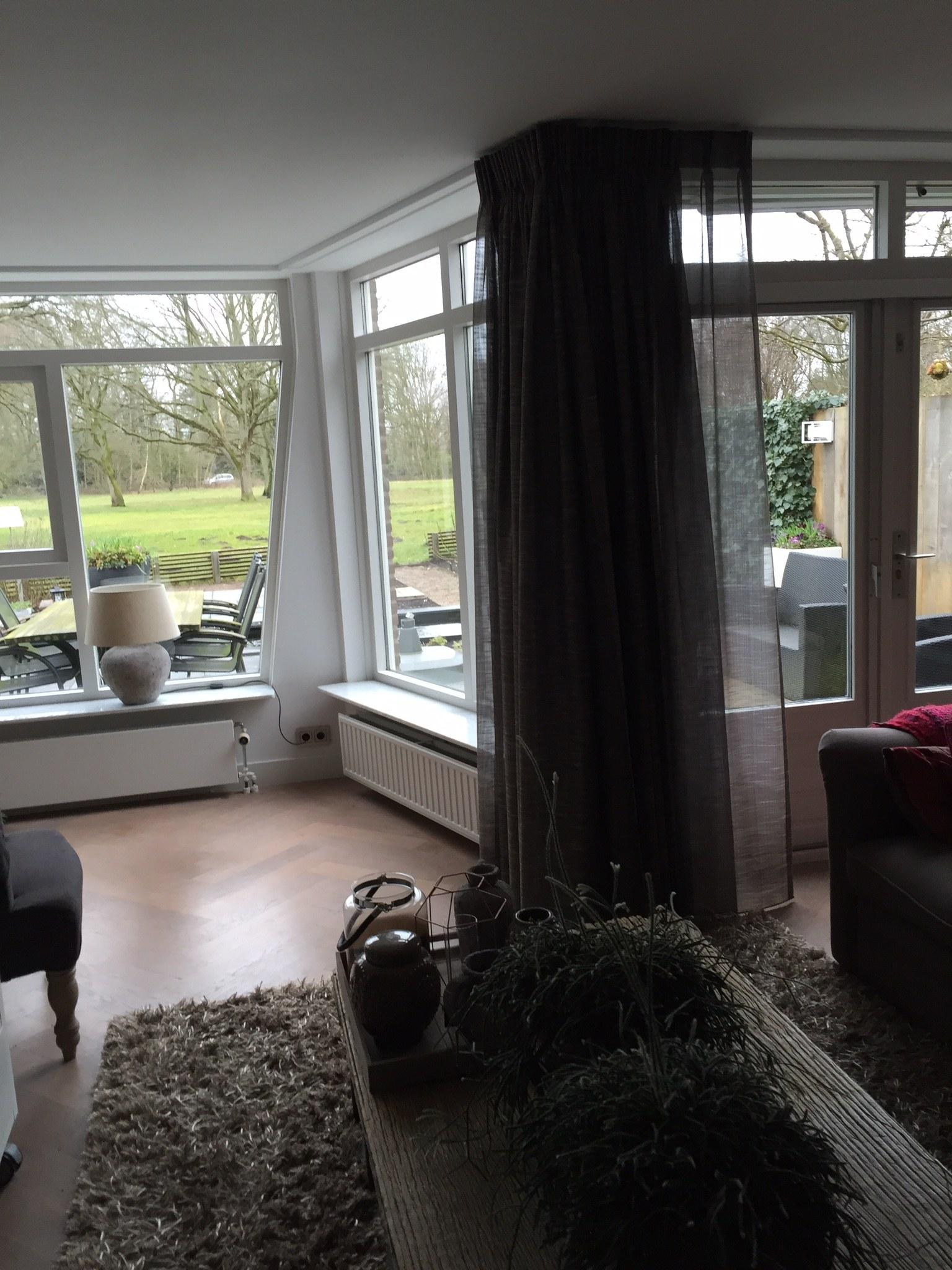 Raamdecoratie woonkamer en keuken Hilversum - De Huiskamer