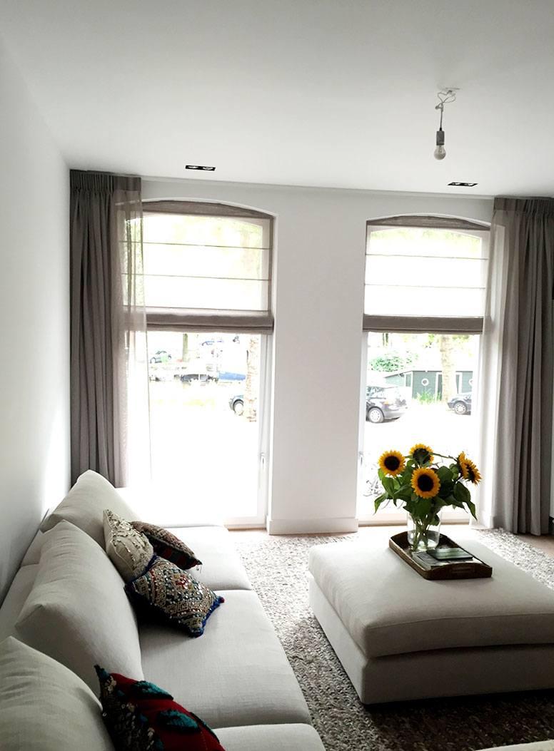 Raamdecoratie woonkamer Amsterdam - De Huiskamer
