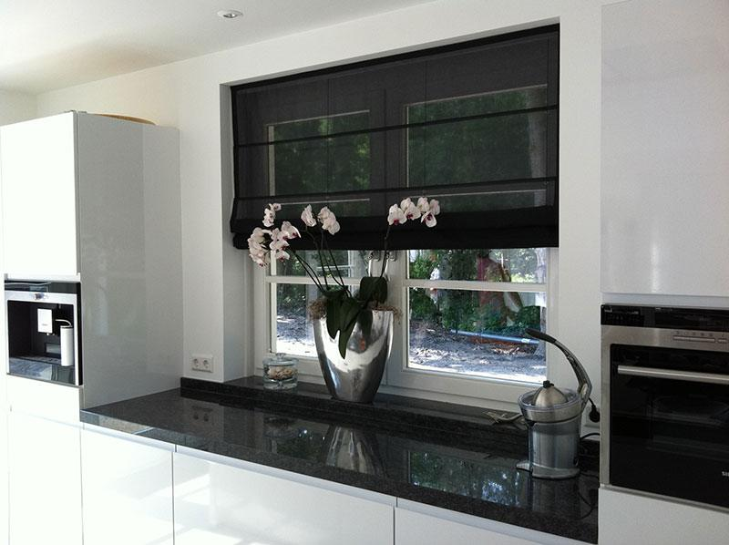 Raamdecoratie keuken hilversum de huiskamer
