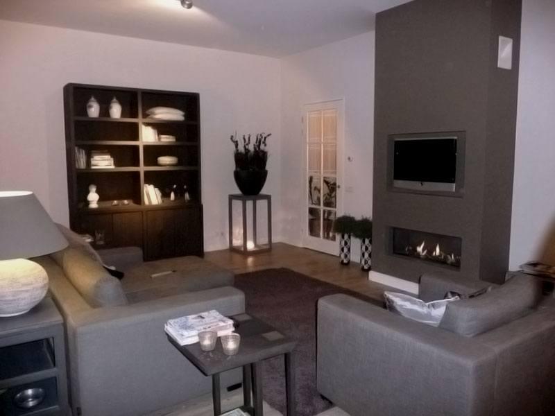 Totale inrichting woonkamer baarn de huiskamer for Woonkamer verven
