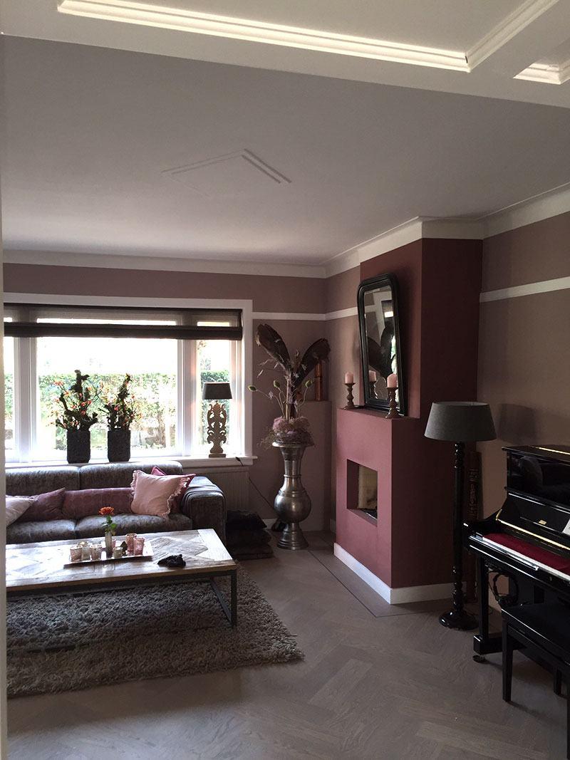 Meubels, raamdecoratie en woonaccessoires woonkamer en trap ...